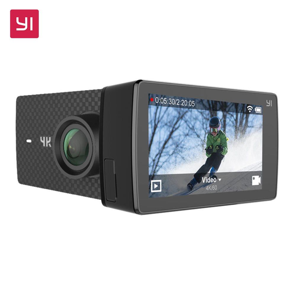 Экшн Камера YI 4K+(Plus) Международная Версия ПЕРВАЯ 4K/60fps Amba H2 SOC Cortex-A53 IMX377 12Мп CMOS 2.2LDC RAM EIS WIFI НОВИНКА