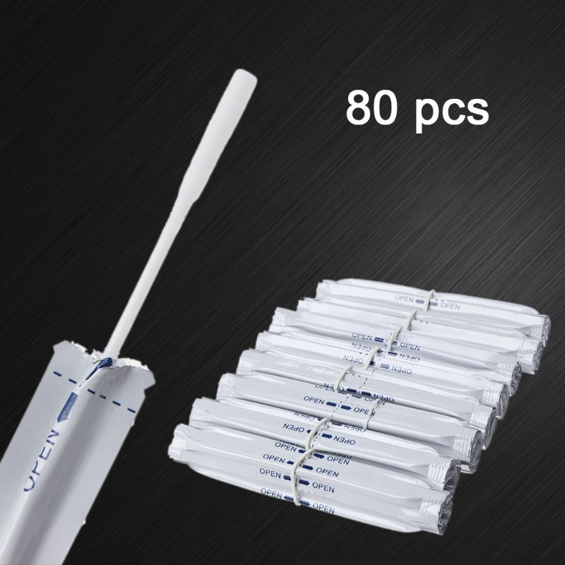 80Pcs/Box Wet Alcohol Cotton Swabs Double Head Cleaning Stick For IQOS 2.4 PLUS For IQOS 3.0 LIL/LTN/HEETS/GLO Heater