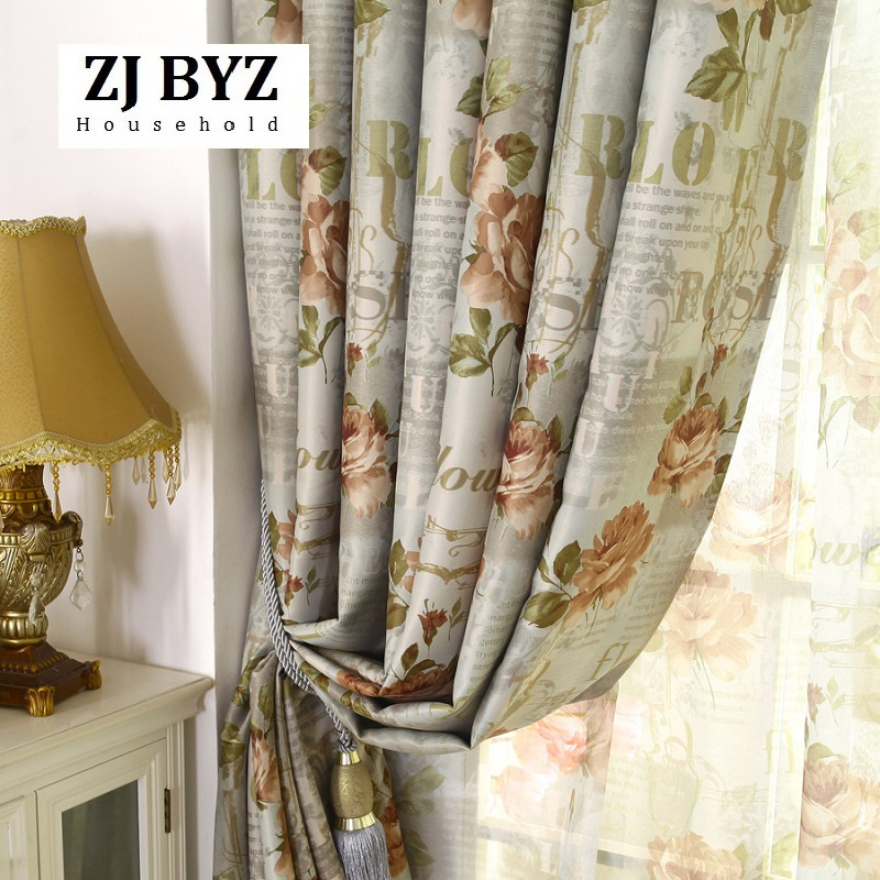 Vorhnge Fr Wohnzimmer Esszimmer Schlafzimmer Doppel Stieg Europischen Amerikanischen Stil Garten Vorhang Englisch Blumen Schattierung