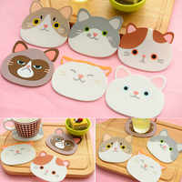 1 PC Table Pad Silicone Insulation Placemat Cup Bowl Mat Home Decor Durable Cat Pattern Coaster