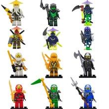 2016 New 6pcs/lot Decool Figures Cole Kai Jay Lloyd Zane Chen Mini Blocks Set Ninja go Figure Toy Compatible legoINGlys Minifig
