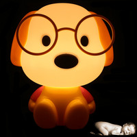 Novelty LED Bulb Baby Room Panda Rabbit Dog Cat Cartoon Kids Bed Side Desk Lamp LED