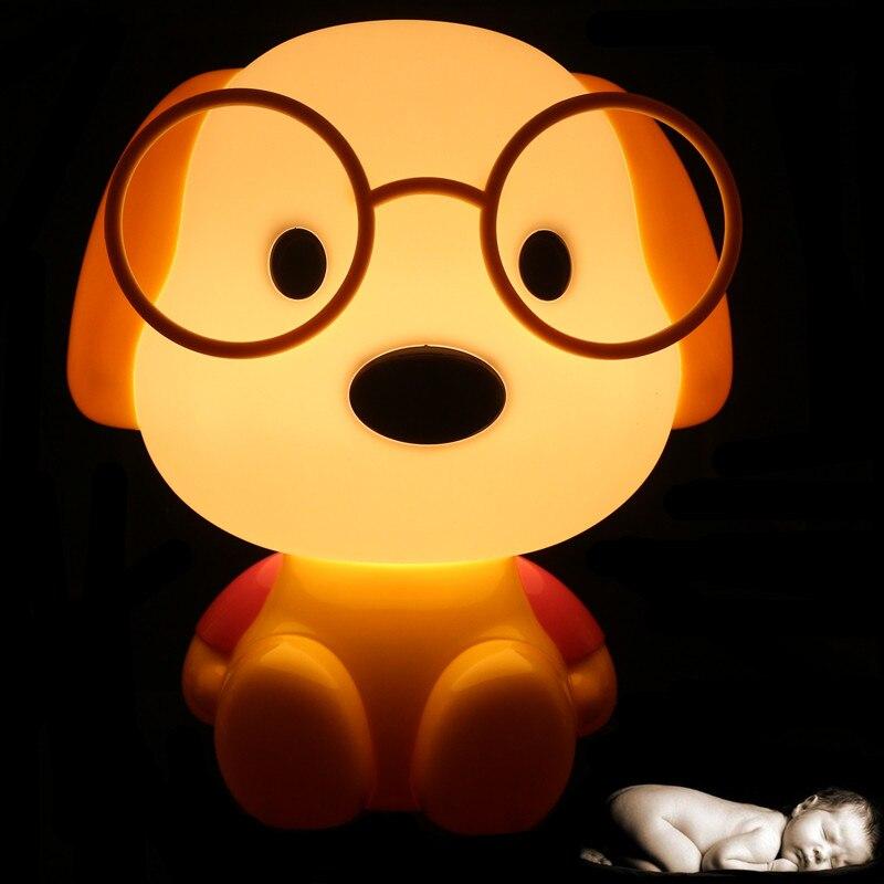 Novelty LED Bulb Baby Room Panda/Rabbit/Dog/cat Cartoon Kids Bed side desk Lamp LED Night Sleeping light Toys Gifts EU/US Plug led desk night lights panda rabbit dog bear cartoon baby room nightlights kids bed lamp sleepingtable night lamp luminaria