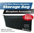 Free Shipping!! 5pcs/lots High Quality Handheld Microphone Storage Bag Fits For Sennheiser e822 e828 e835 e845 e935 935gold e945