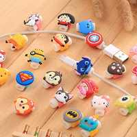Nette Cartoon Kabel Protector Für iPhone4 4s 5 5s 6 6plus 6s 7 8 USB Lade daten Linie Schnur Protector Fall Kabel Wickler Abdeckung