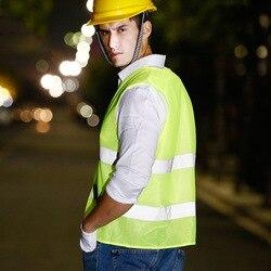 Gilet d'avertissement réfléchissant vêtements de travail haute visibilité jour nuit gilet de protection pour courir cyclisme sécurité routière