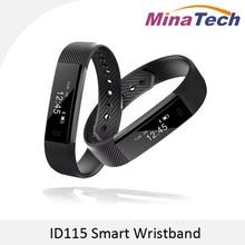 ID115 умный Браслет Фитнес трекер шаг счетчика активности Мониторы группа будильник вибрации браслет для IOS Android телефона