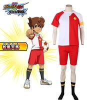 Inazuma Eleven Go VS Little Battlers Experience W Matsukaze Tenma Japanese Soccer Team Summer Sports Uniform Number 8 Cosplay Co