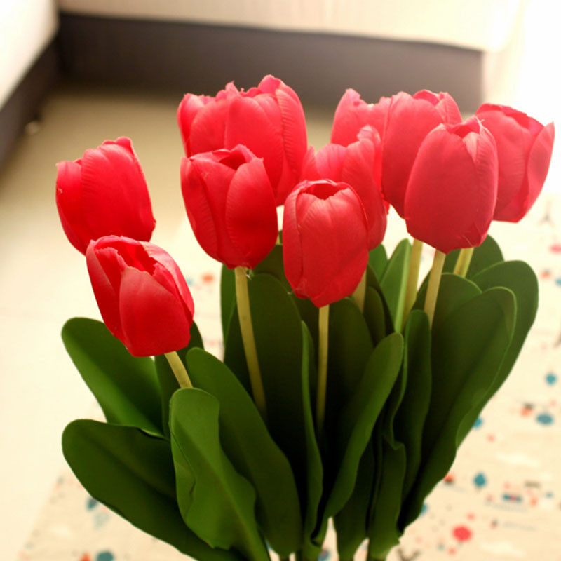 Artificial Red Tulips Promotion-Shop For Promotional ...