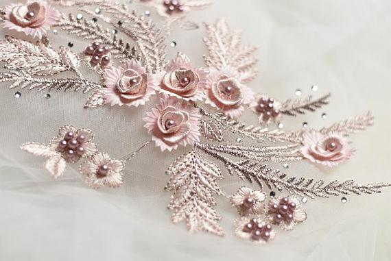 Lace appliquetrim wedding lace applique bridal lace applique