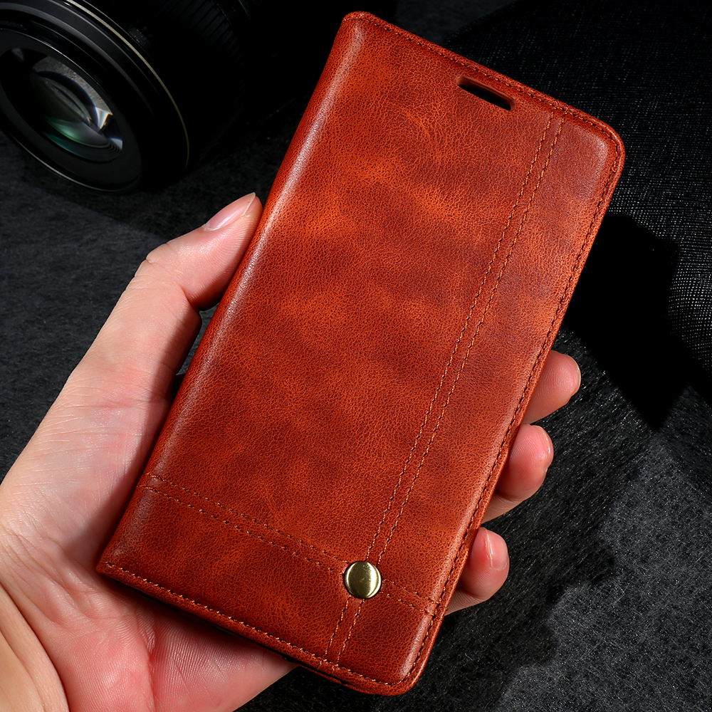 best service a1a01 dadcd FLOVEME Deluxe Noble Men Leather Case For iPhone 6 Plus 6s Wallet Cover  Luxury Brown Flip Holster For iPhone 7 Plus Bags-in Wallet Cases from ...