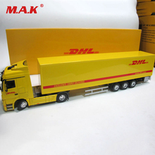 Diecast Alloy Metal Car Big Container Truck 1:50 Scale Express DHL Truck Model Car-styling Transporter Børne Legetøj Chirstmas gave
