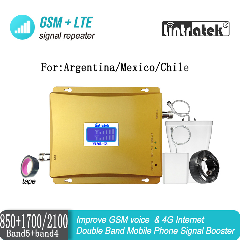 LCD Display CDMA 850 4G 1700 Mobile Phone Signal Booster Repeater AWS 1700/2100mhz B4 Dual Band Amplifier Repetidor Celular 35