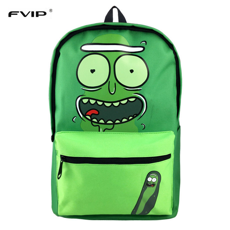 FVIP New Arrival Rick And Morty Backpacks for Teenage Travel Cartoon Backbag Backpack Mochila high q cartoon rick and morty 2017 new arrival backpack students couple printing candy color leisure bags