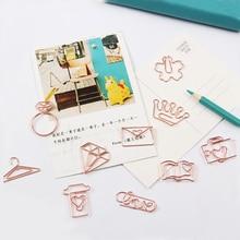 TUTU free shipping Rose Gold Paper Clips Bookmark Planner Tools Scrapbooking Memo Clip Metal Binder Paperclip H0137