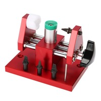 Red Watch Repair Workbench Watch Case Back Opener Battery Replacement DIY Watch Repair Kit with 4 Blades Watchmaker Tool