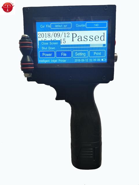 סביר אוטומטי M6 בר קוד QR תאריך אצווה קוד תפוגה תאריך כף יד הזרקת דיו מדפסת