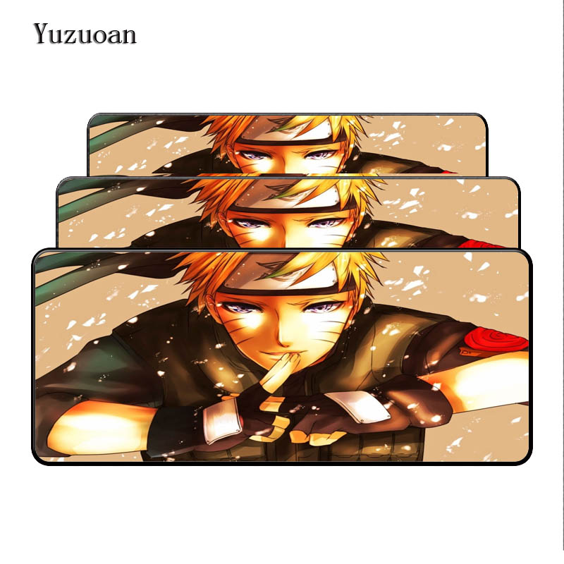 Yuzuoan Free Shipping Naruto Anime Comfort Mouse Mat Gaming Large Mousepad Size for 40x90CM Speed Version Gaming Mousepads