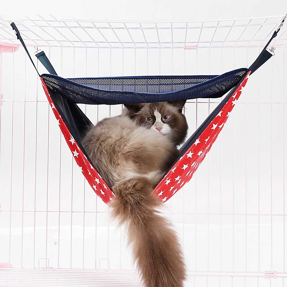 Intelligent 2 Layers Warm Hanging Cat Bed Mat Soft Cat Hammock Winter Hammock Pet Kitten Cage Bed Cover Cushion Cat Supplies