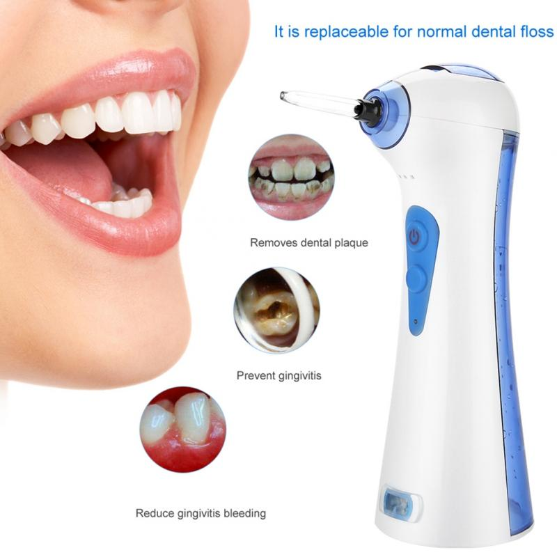 Dental Hygiene Teeth Dental Floss Oral Water Jet Pick Cleaning Irrigator Tooth Mouth Denture Cleaner Care with 2 Tips