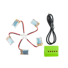 Lipo battery 3.7V 150mAh Batteies 5pcs and USB charger suit for jjrc  H8 rc Quadcopter Airplane drone Spare Parts wholesale