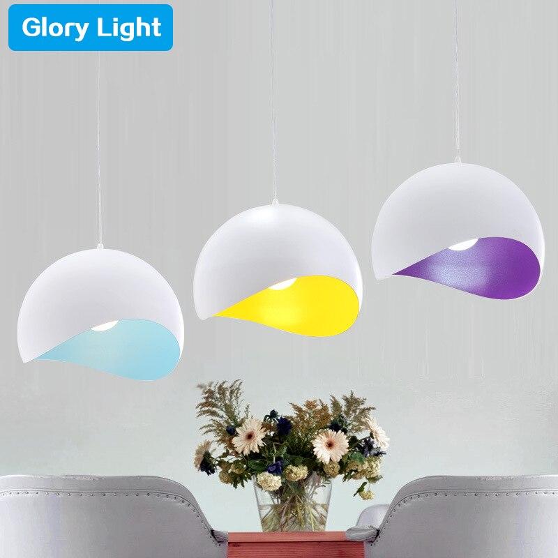 ФОТО Glory Light Modern Full Aluminum Spinning Eggshell Pendent Lights Restaurant Bedroom Variable art Lighting Dia20-30cm lamp
