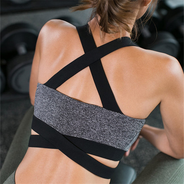 Women's Criss Cross Back Yoga Bra 4 Colors  S-XL