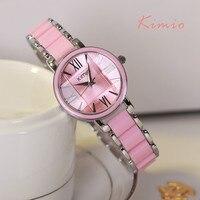KIMIO Fashion Luxury Brand Ladies Resin Bracelet Quartz Watches Women Dress Watch Roman Numerals Wrstwatch Montre