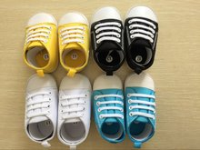Fashion Baby Shoes Vintage Black White Cotton Children Casual Shoes Non-Slip Shoes for Baby Girls Boys