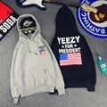 Para o Presidente Das Mulheres Dos Homens Casaco Com Capuz Kanye West YEEZY Hip Pop Estilo Hoodies Homem Novo Com Capuz de Impressão EUA Casal Engrossar Moletom