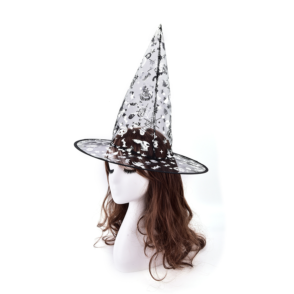 For Halloween Costume Accessory Halloween Supplies Party Hats Random color  kids Adult Women Witch Hat