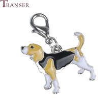 Transer Cheap Beagle Dog ID Tag Collar Necklace Pendant Grooming Accessories Keychain 80710(China)
