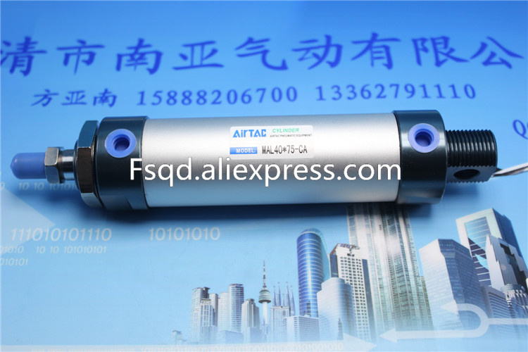 MAL40*125-CA MAL40*150-CA MAL40*175-CA MAL40*200-CA AIRTAC aluminum alloy mini-cylinder MAL series mal airtac type mini cylinder mal40 175 stroke air cylinder mal40 175
