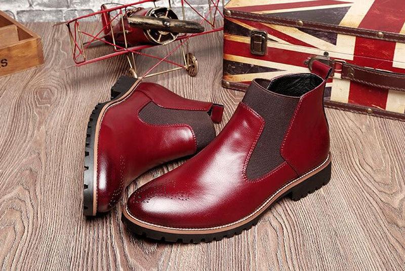 YIGER Men's Chelsea Boots 15