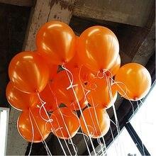 Ballons gonflables ronds Orange en Latex, 10 pièces/lot, 10 pouces, 21 couleurs, ballon de décoration pour fête d'anniversaire, mariage