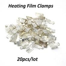 20 шт./лот разъем для углеродистой нагревательной пленки теплый пол медное покрытие Серебряные Зажимы