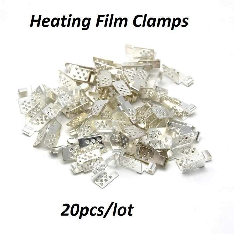 20pcs/lot Connector For Carbon Heating Film Warm Flooring Copper Plating Silver Clamps