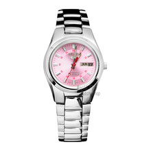SEIKO Shield # 5 Pink Dial Steel Watch Dual Calendar Automatic Machine Ladies Watch SYMC23K1