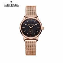Риф Тигр Элитный бренд Винтаж часы Reloj Mujer ультра тонкий кварц пару Для женщин розовое золото Тон аналоговые часы Relogio Feminino