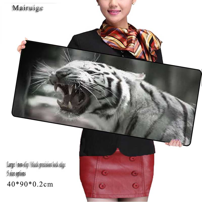 Mairuige Tigers Game Speed Keyboard Animal Mouse Pad Rubber Mat Computer Gaming Mousepad Gamer for Large Size Table Mouse Mat