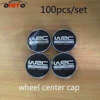 Groothandel 100x60mm Zwart WRC Auto Wiel center Hub Cap Auto Badge Emblem covers styling