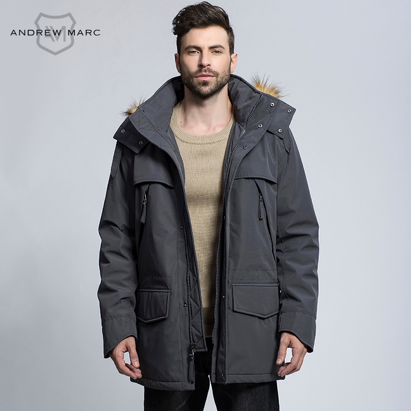 ANDREW MARC 2016 New Arrival Men Cotton Coat  Size Autumn Winter Thick Plus Parkas Hooded Jacket Overcoat S-XXL TM6AC106 marc new york andrew marc new white women s size 10 seamed sheath dress $138