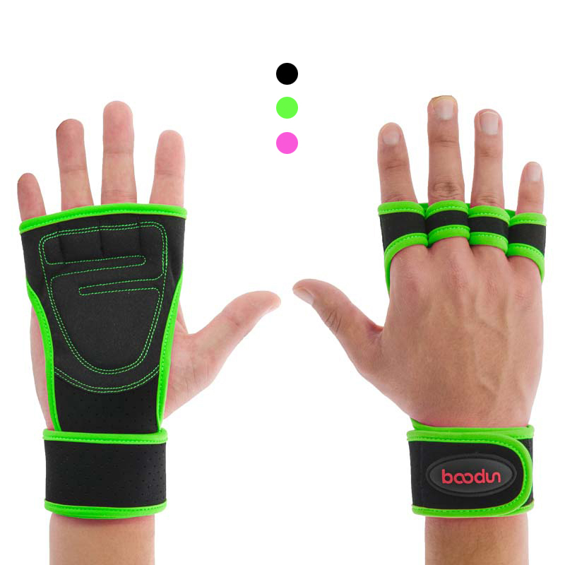 Weightlifting Gym Gloves Wrist Wrap Suport Fitness Gloves Half Finger Power Lifted Hand Grips Fingerless Sports Dumbbells Gloves