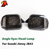 LED Lens Head light for Suzuki Jimny JB43 Angle eyes Lamp headlight 4X4 offroad accessories with low high beam