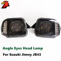 LED объектив головного света светодио дный Suzuki Jimny JB43 угол средства ухода век лампы фар 4X4 offroad интимные аксессуары с низкой дальнего