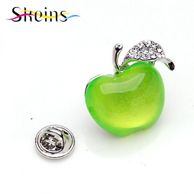 2017 Enamel Brooch Pin New World Premiere For Spring And Summer High Quality Apple Brooch Chapas Broches Pins For Fashion Women