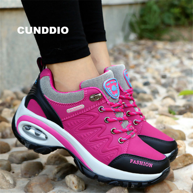 shoes woman Outdoor Casual shoes Leather suede Brand fashion Sneakers woman outdoor non-slip air damping tenis feminino casual
