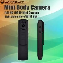 Мини Wi-Fi Камера Micro Ночное видение Камера HD 1080 P Мини DVR DV видео H.264 ручка Cam свет Для тела Камера Портативный Видеокамеры Go Pro