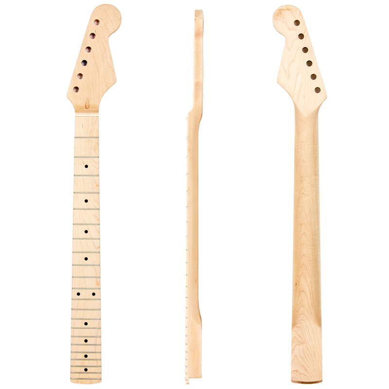 Maple Guitar Neck for Electric Guitar Neck Maple Fingerboard 22 Fret Black Dot Arcuated Heel maple guitar neck for electric guitar neck rosewood fingerboard 22 fret white dots acurated heel