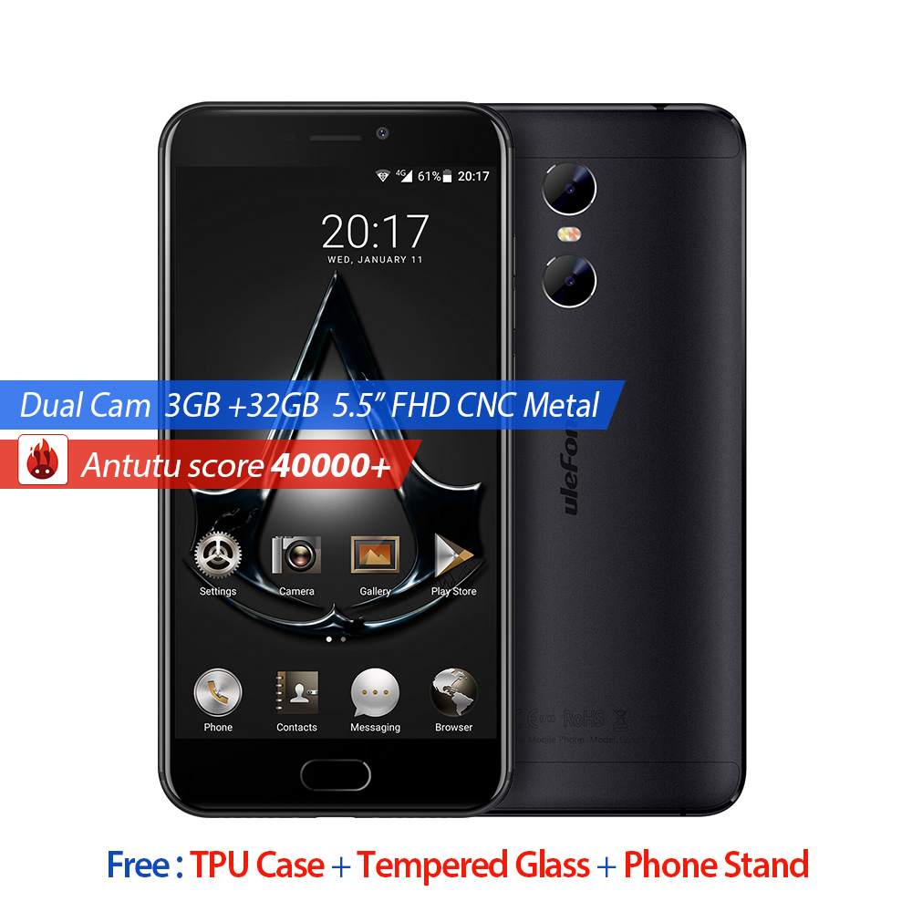 Ulefone Gemini 4G Phone 32GB ROM 5 5 inch Screen Andriod 6 0 MT6737T Quad